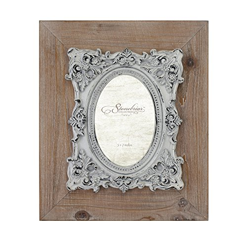 Stonebriar SB-6064A Cottage Natural Wood Frame with Baroque Details (Wood Baroque)