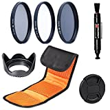 72MM Filter Set: Slim UV, Slim CPL, Neutral Density ND4 Filters for Canon, Nikon, Sony, Samsung, Sigma, Fujifilm, Fuji, FUJINON, Tamron, Tokina, Pentax, Carl Zeiss Lens (72mm)