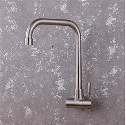 Total Stainless Steel Single Cold No Lead Hygienisim Bathroom Wall Mounted Basin Sink Faucet Tap Mixer Navy Blue