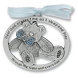 Baby Shower Gift Idea: Sweet Teddy Bear Crib Medal for Baby Boy Crib Medal