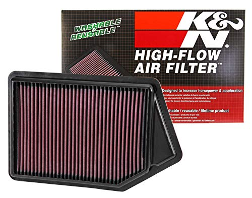 K&N engine air filter, washable and reusable:  2007-2017 Audi L4 1.8/2.0L (A5 Quattro, Q5, A4, A5) 33-2945 (Best Audi A4 Engine)