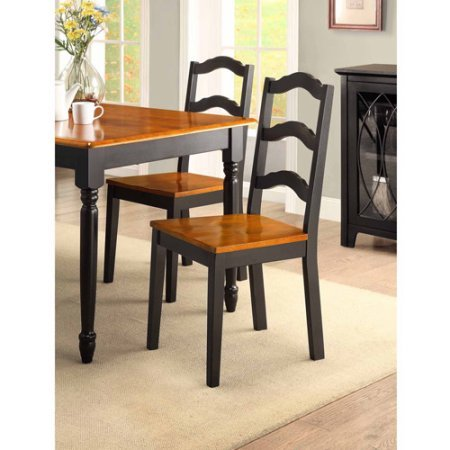 Better Homes and Gardens Autumn Lane 5-piece Dining Set, Black and Oak from Better Homes & Gardens