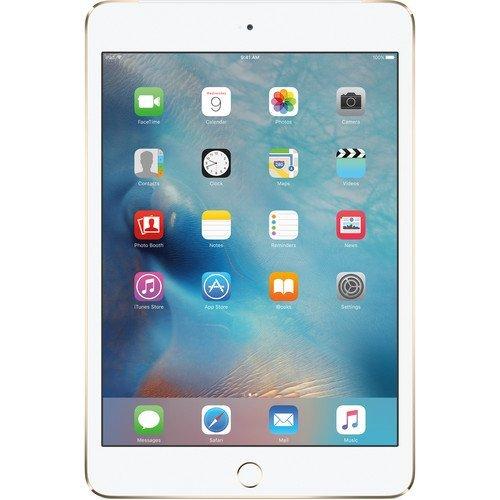 Apple iPad mini 4 MK882LL/A (16GB, Wi-Fi + Cellular, Gold) NEWEST VERSION (Refurbished) (Best Cellular Carrier For Ipad Mini)