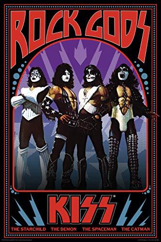 Aquarius NMR Kiss Rock Gods Retro Music Poster 24x36 Inch