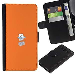 YiPhone /// Tirón de la caja Cartera de cuero con ranuras para tarjetas - Triste Triturado De Papel - Samsung Galaxy S3 III I9300