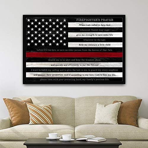 Fireman Wood Sign - CELYCASY Firefighter Prayer Flag Fireman Prayer, Firefighter, Fireman Gift, Firefighter Prayer, Fire Fighter Prayer, Firemen Prayer Thin Red Line