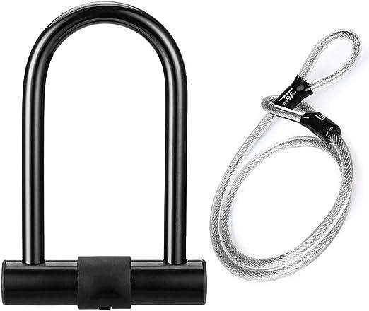 LiuQ-U Lock Candado antirrobo para Bicicleta con Bloqueo en Forma ...