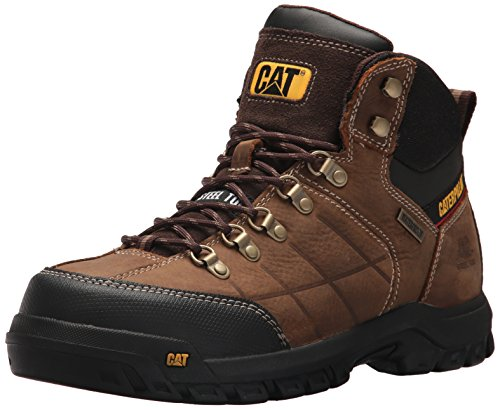 Caterpillar Men's Threshold Waterproof Steel Toe Industrial Boot, Brown, 11 M US