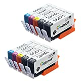 564XL Ink Cartridges, Tekmall 564 Ink 4 Color Compatible for DeskJet 3520 3522 Officejet 4620 Photosmart 5520 6510 6515 6520 7520 Printers 10 Pack (4 Black, 2 Cyan, 2 Magenta, 2 Yellow)