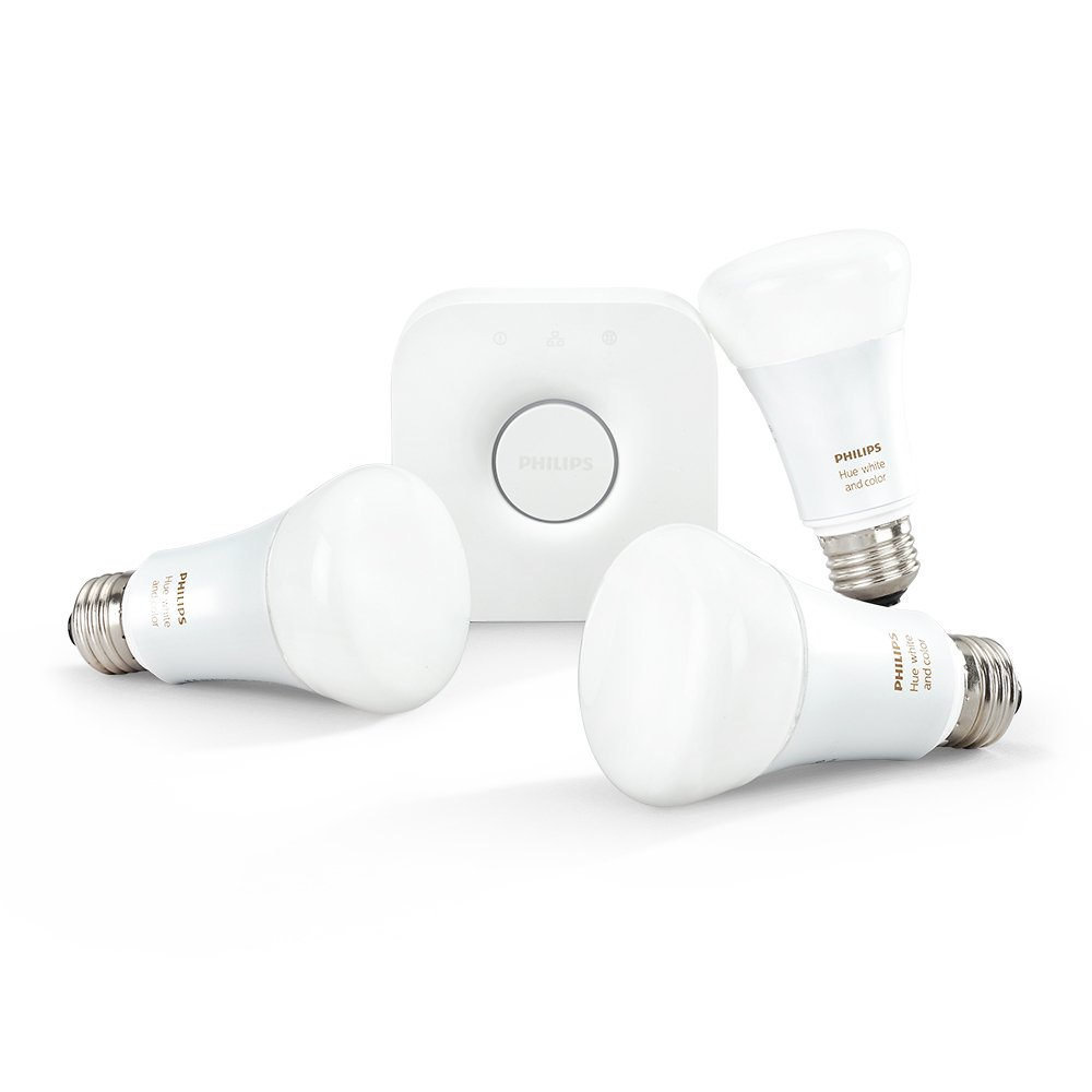 Philips Hue White and Color Ambiance 2nd Generation Smart Bulb Starter Kit (Older Model 3 A19 Bulbs and 1 Hub Works with Alexa Apple HomeKit and Google Assistant) by Philips LED (Image #3)