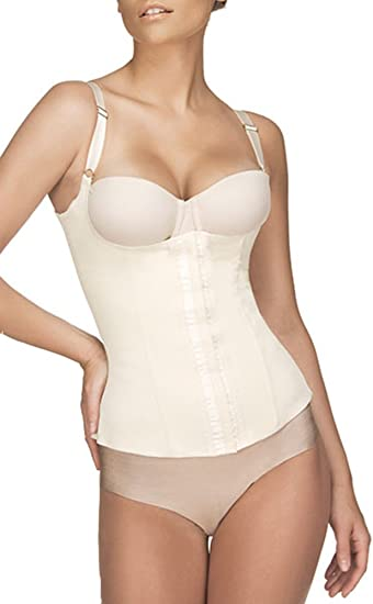 Strong Compression Latex Vedette 100 Vest Underbust Corset with straps