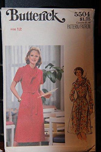 (Vintage Butterick Pattern 5504 Size 12 - Misses' Dress - (uncut pattern))