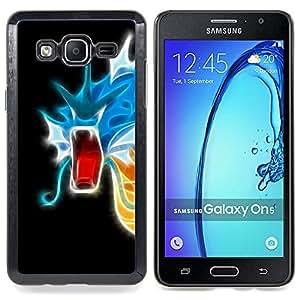 SKCASE Center / Funda Carcasa protectora - Flaming neón del dragón;;;;;;;; - Samsung Galaxy On5 O5