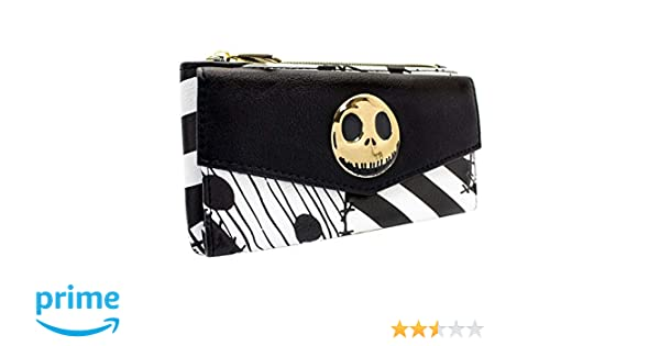 Cartera de Nightmare Before Christmas Labor de Retazos Negro