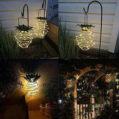 ️ Yu2d ❤️❤️ ️Pineapple Garden Solar Lights Waterproof Warm White Outdoor Lamp Home Decor 2PCS]()