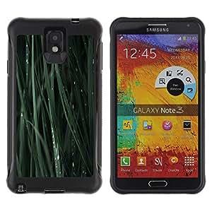Paccase / Suave TPU GEL Caso Carcasa de Protección Funda para - Green Grass Blade Nature Dew Drop - Samsung Note 3