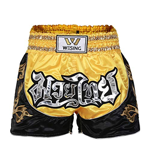 WESING Muay Thai Fight Shorts for MMA Boxing Training Martial Arts Kickboxing Trunks