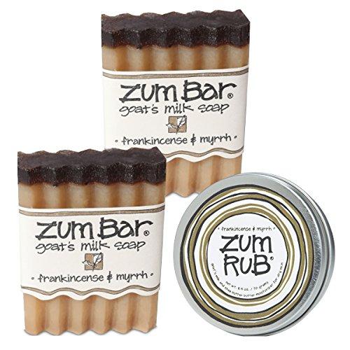 Wild Rub - Indigo Wild: Zum Bar and Rub Frankincense and Myrrh 3 Piece Set