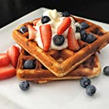 KNOW Foods Gluten Free Waffles, Chocolate Chip, Low Carb, Keto + Paleo Friendly - 4 count