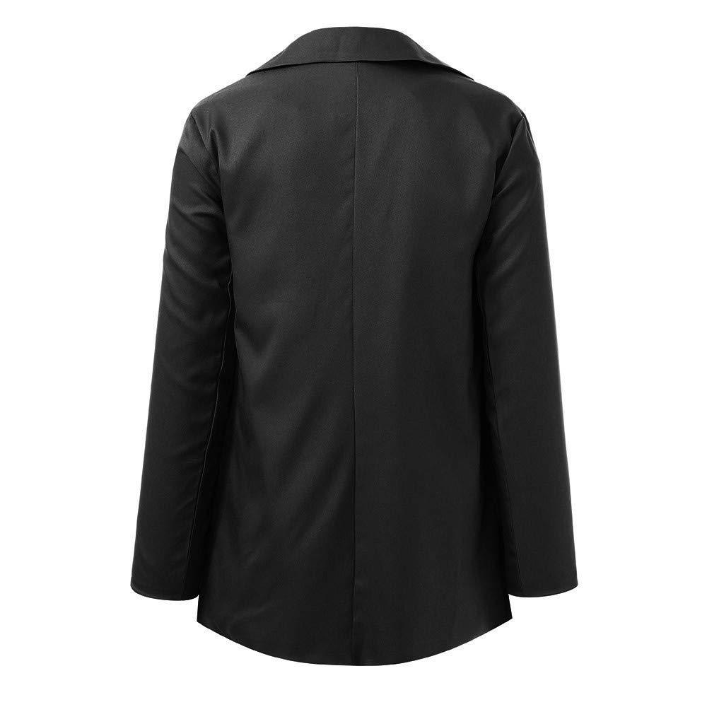 YEBIRAL Manteau Femmes Hiver Couleur Unie Revers Manches Longues Coupe Slim Cardigan Top Blazer