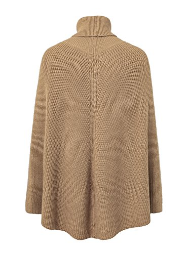 Slouchy Camel Cape Neck Pullover Top