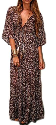 POGT Womens Sleeve Bohemian Chiffon
