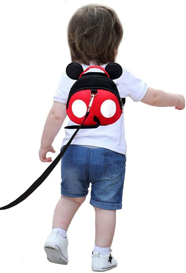 Red Yimidear Cute Walking Safety Harness for Kids Toddler Anti-Lost Belt with Safety Leash Mini Strap for Boys and Girls
