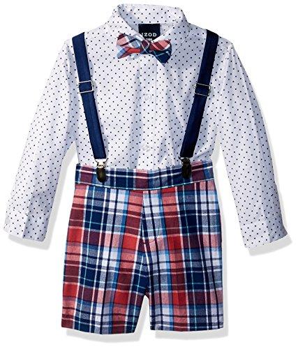 Apparel Gum Infant Bubble (IZOD Baby Boys Creeper Suspender Set, Plaid Bubble Gum, 12 Month)