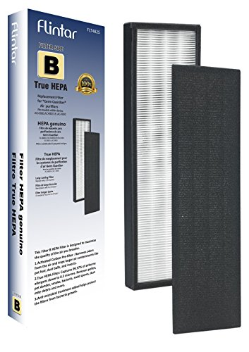FLT4825 Premium True HEPA Replacement Filter B Compatible for GermGuardian AC4825, AC4300, AC4800, 4900 Series Air Cleaner Purifiers, AC4300BPTCA, AC4850PT with Anti-Microbial Pet Treatment by Flintar