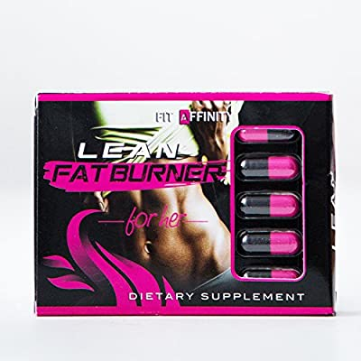 FIT AFFINITY: Lean Fat Burner For Her - Made for Women • Best All Natural Weight Loss Pills - Thermogenic Fat Loss Supplement & Appetite Suppressant - 15 Day Supply (30 Capsules)