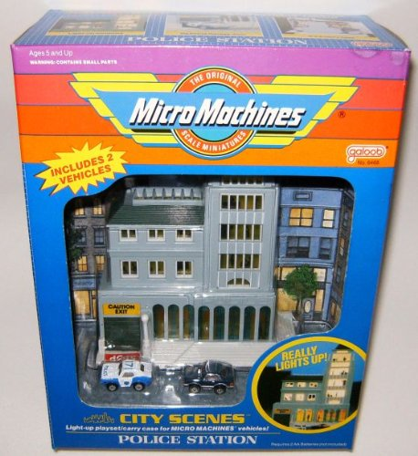 Action City Police Station (Police Station B City Scenes Micro Machines Playset)