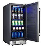 Kalamera 15 Inch Stainless Steel Beverage Cooler - Soda and Beer Refrigerator Chills Drinks at 32-41 Degrees - Drinks Fridge for Home and Commercial Use ...