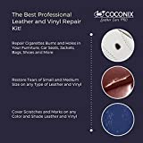 Coconix Leather and Vinyl Repair Kit - Restorer of Your Couch, Sofa, Car Seat and Your Jacket - Super Easy Instructions to Match any Color - Restore any Material, Genuine, Italian, Bonded, Bycast, PU