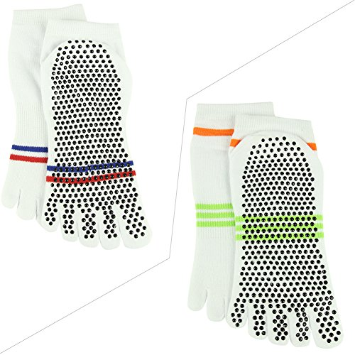 Barre Athletic J'colour Gripes Different Sports 2 Socks Yoga Socks Stripes Ankle White 2 for Non amp;Men Pilates Slip Women 015 Pairs zzXY1x