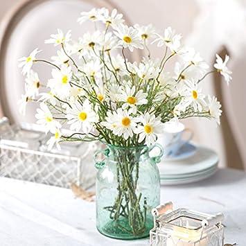 Zhudj Gelbe Margeriten Kunstliche Ornamente Florale Tisch Blumen