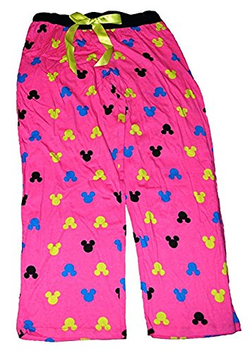 Disney Minnie Mouse Womens Pajama Pants With Silhouette Print - Hot Pink Pink