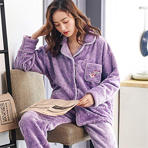 Island Flannel Suit Ladies Autumn 30 Service Models 50kg Xxl164 M150 Cardigan Long Fleece Winter Pajamasx Home Cashmere Coral 75kg sleeved And Pajamas 65 172cm 162cm F5awnqx8O
