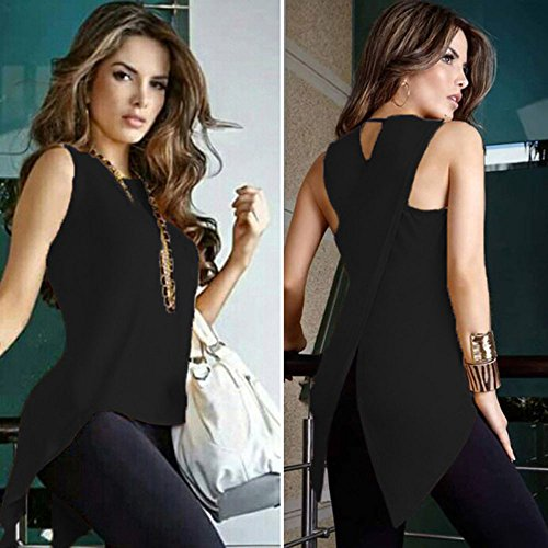 BXzhiri Sexy Vest for Women Back Sleeveless Blouse Ladies Strappy Camisole Tank Tops Cross Black by Bxzhiri_Women Tops (Image #2)