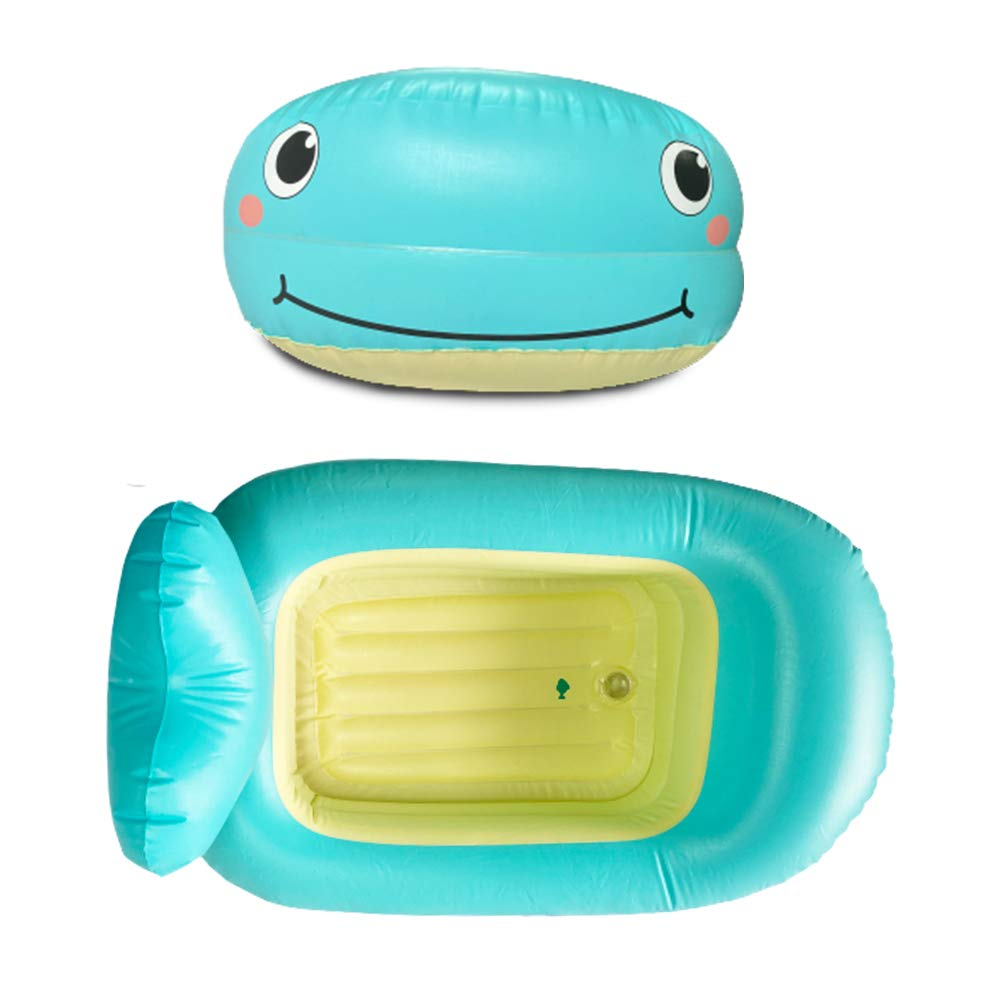 QDH Baby Bath Tub Infant Baby Floats for Pool Blue Whale Baby Bathtub Inflatable Baby Bath Seat Baby Pools for Outside Toddler Floaties Pools for Infant New Baby Kids Boys Girls