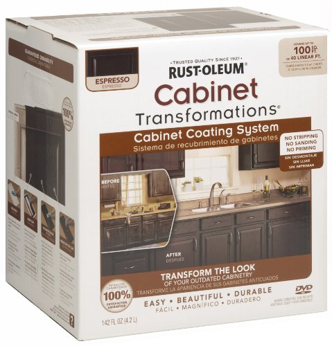 Rust-Oleum 263231 Cabinet Transformations, Small Kit, Espresso (Nuvo Cocoa Couture 1 Day Cabinet Makeover Kit)