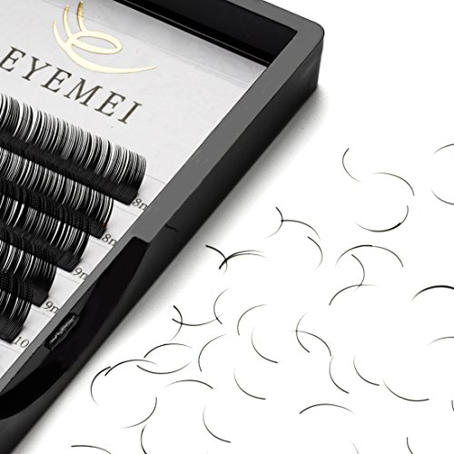 Eyelash Extensions 0.20 C Curl Natural Faux Mink Eyelash Extensions Individual Lashes Extension 9-15mm Mixed Tray Salon Use by EYEMEI