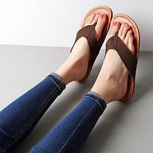 Zapatos Playa Duo Sandalias Tamaño Hembra El Chanclas Fresco la Flip Gris Gris La Sandals Eu36 Elegante Para Femeninos De uk4 Del Verano flops color cn36 Varón T7YYqwA1d