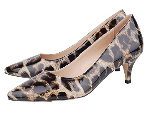 Verocara  Pump176,  Damen Sneaker Low-Tops B-Leopard2