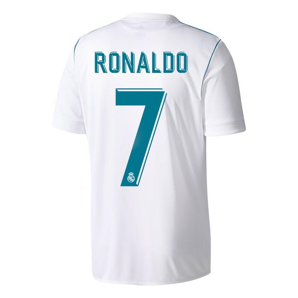 Real Madrid Home KIDS Ronaldo Jersey 2017 / 2018 (公式印刷) B07547CZ63XL / 176cm