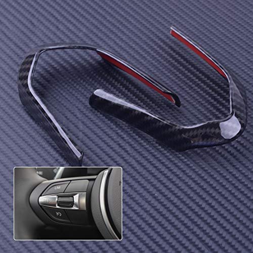 DDV-US 2pcs Carbon Fiber Car Steering Wheel Covers Decoration Frame Cover Trim Fit For BMW M3 M4 M5 New 1 3 Series X5M