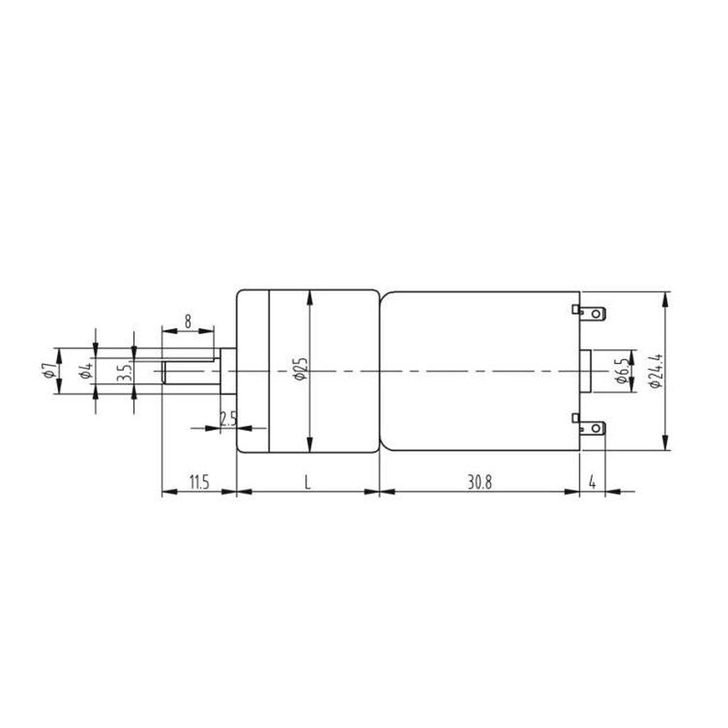 5 Rueda Pl/ástica Del Neum/ático Con El Motor Del Engranaje De DC 12V Para El Robot Elegante Del Coche De Arduino