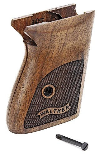 Numrich Checkered English Walnut Grips Compatible with S&W PPK