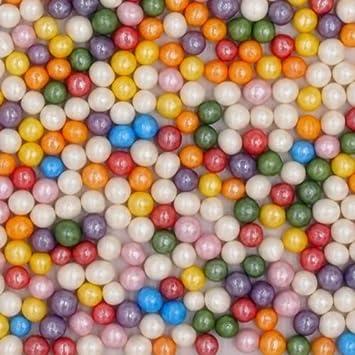Natural 4 mm arco iris tuercas leche de soja Gluten OMG libre Shimmer - perlas: Amazon.es: Hogar