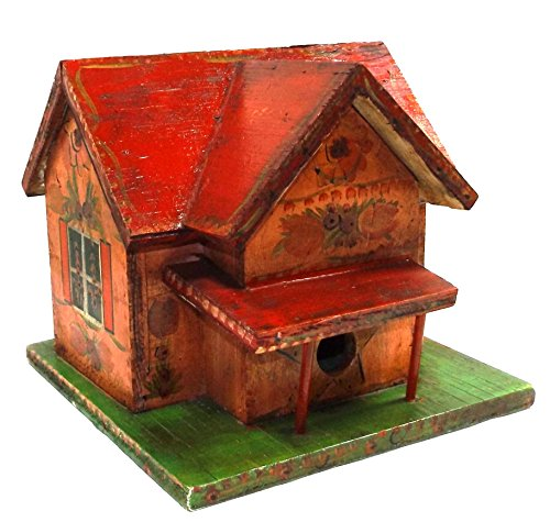 Adorable Shabby Primitive Cottage Chic Handmade Wooden Tole Painted Folk Art (Antique Store Birdhouse)