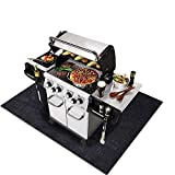 Under the Grill Mat,BBQ Grilling Gear for Gas/Electric Grill–Absorbent Grill Pad Lightweight Washable Floor Mat to Protect Decks and Patios from Grease Splatter and Other Messes (Grill Mat 36'' x 72'')